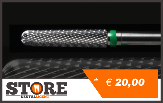 #05 -1° - Cone milling cutter according to Michael Anger -green- HEAD 0,29 - 2,35 mm Shank