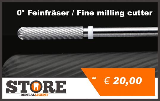 0° - Fine milling cutter - FINE - 2,35 shank - Head 025