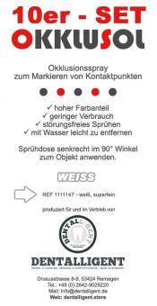 Okklusol Spray - WEISS - superfein - 10er
