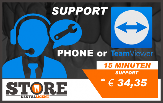 TELEPHONE & TEAMVIEWER SUPPORT - 15 minutes