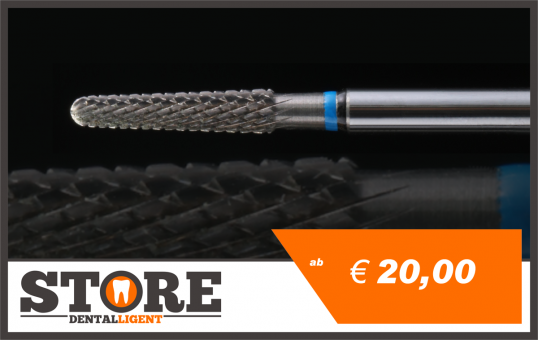 #13 - 1° - cone milling cutter according to Michael Anger - blue/black extremely coarse3,00 mm shank head 0,29