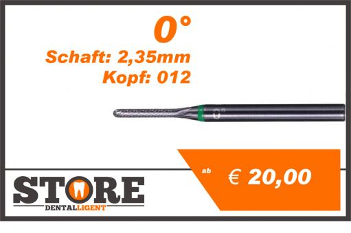 #05 - 0° - Feinfräser - 2,35 mm Schaft - 0,12 Kopf - grün/mittel