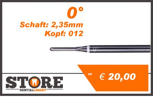 #06 - 0° - Feinfräser - 2,35 mm Schaft - 0,12 Kopf - weiss/fein