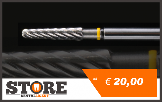 #10 - 1° - Michael Anger cone cutter - 2.35 mm shank - yellow/black medium coarse - 2,35 mm shank head 0,29