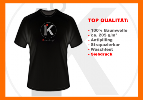 Konuskop T-Shirt BLACK