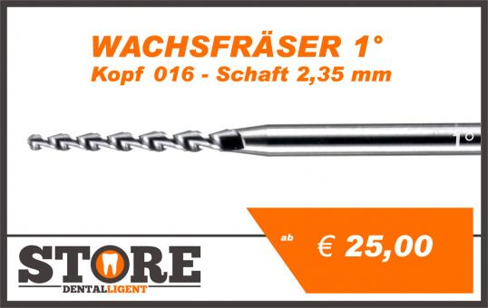 1° - Wax cutter- Head 016 - Shank 2,35 mm