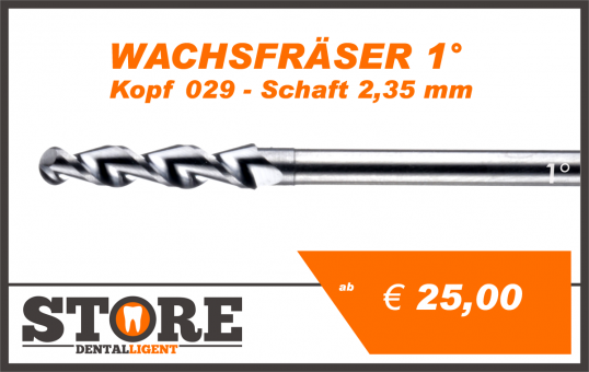 1° - Wax cutter- Head 029 - Shank 2,35 mm